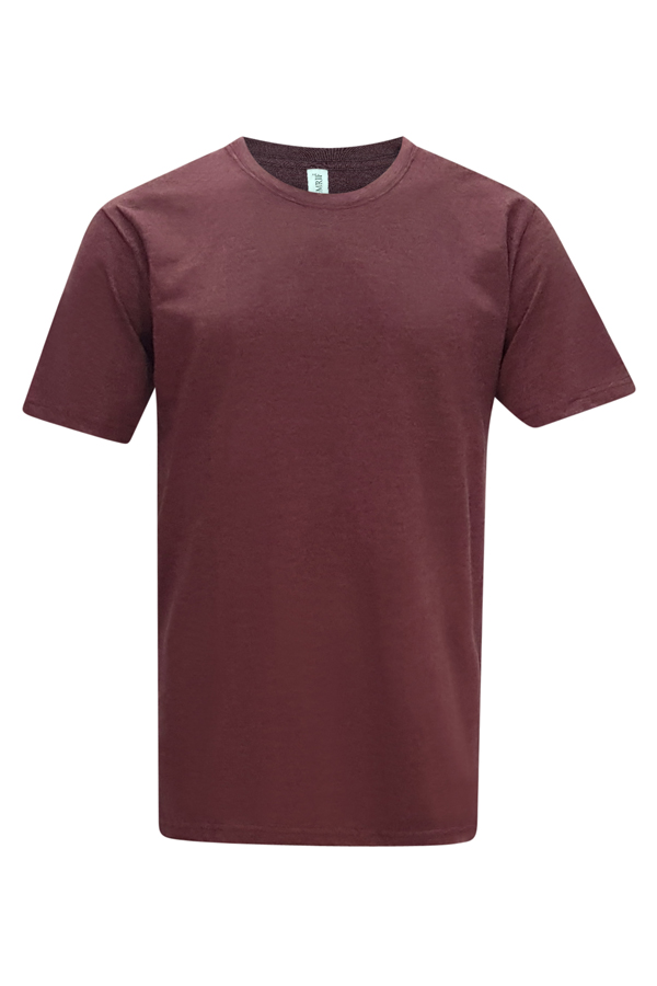 Vintage Round Neck - Burgundy -T-shirt